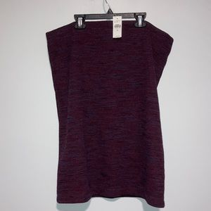 Ann Taylor LOFT Burgundy Skirt